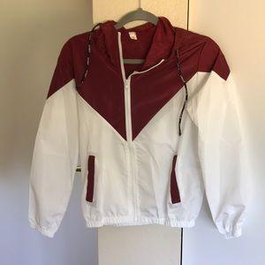 White and Burgundy Sports Coat